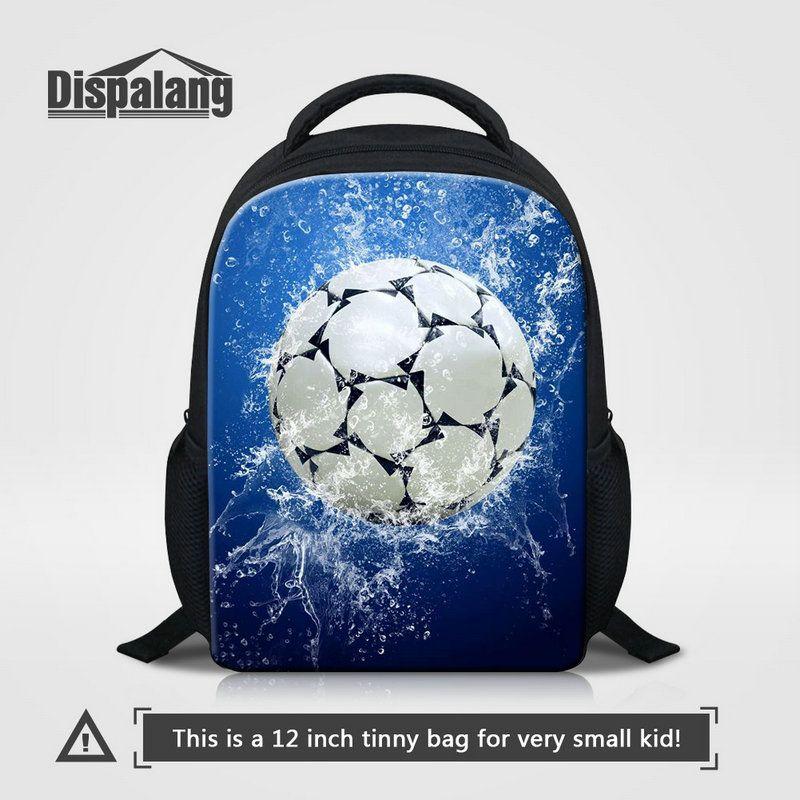 Mini Size Kids Backpack For Kindergarten Cool Basketball Football Printing School Bags For Boys Children Fashion Soccer Pattern Bookbag Pack