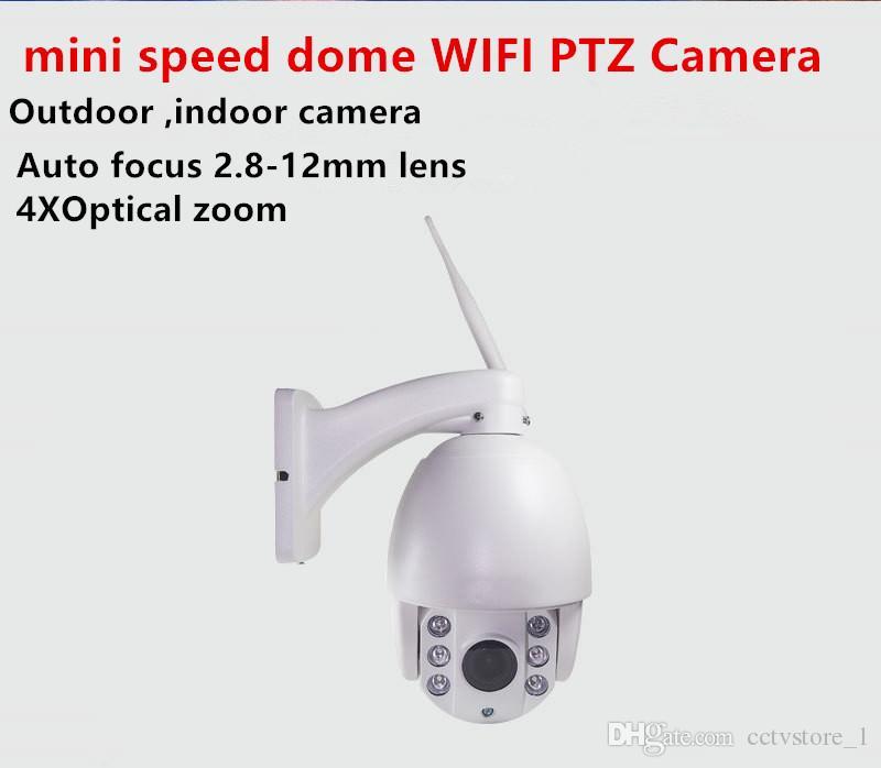 4 인치 야외 3G 4G SIM 카드 돔 PTZ IP 카메라 PTZ HD 1080p의 4 배 줌 모션 감지 SD 카드 밤 IR CCTV 카마라 스피드 돔 카메라