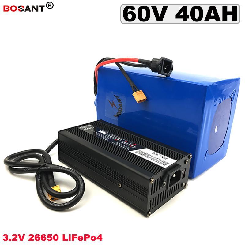 Wiederaufladbare 3.2V LiFePO4 Lithium-Ionen-Batterie-19S 60V 40AH Elektro-Fahrrad LiFePo Akku 2000W + 5A Ladegerät geben Verschiffen frei