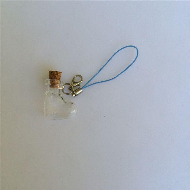 Mini Glass Bottles Pendants Key Chain Small Wishing Bottles With Cork Arts Jars For Bracelets Christmas Gifts Vial1