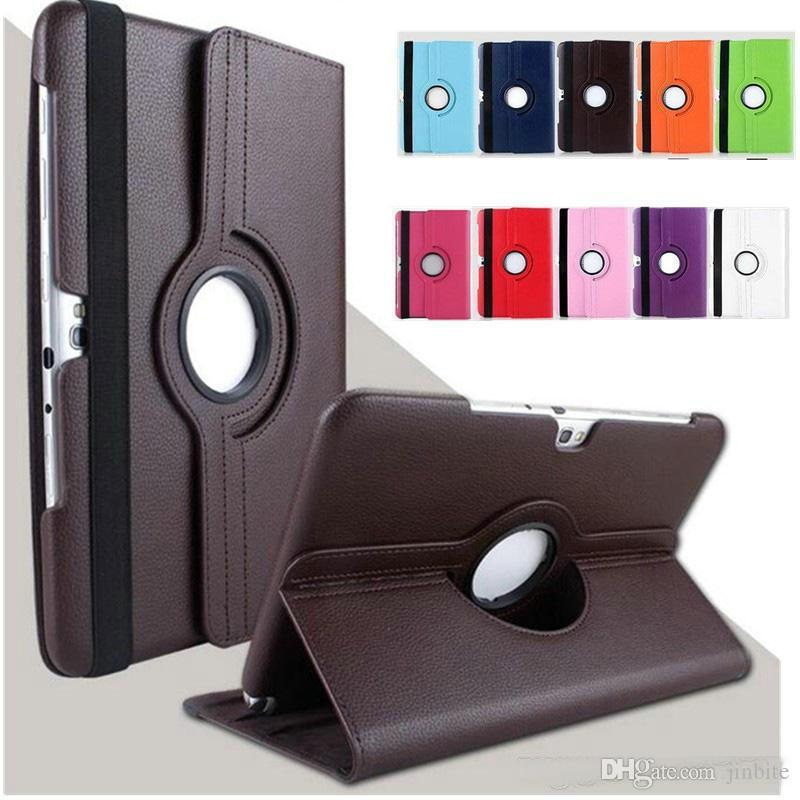 360 Rotating Tablet Cases For Samsung Galaxy Tab 2 10.1 inch P5100 P5110 P7500 P7510 Litchi Pattern PU Leather Stand Protective Cover OM-R1