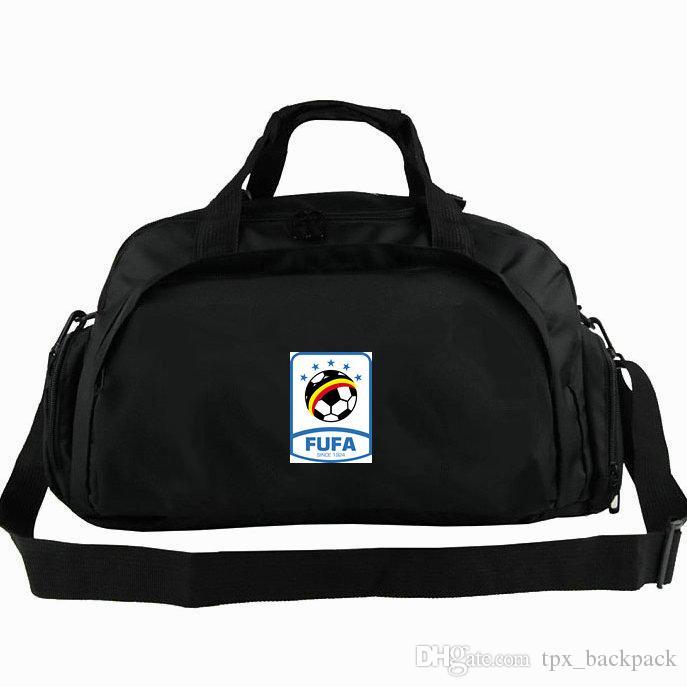 Uganda borsone FUFA nazionale tote squadra UGA calcio zaino calcio 2 uso pacchetto duffle spalla bagagli Sport Badge fionda