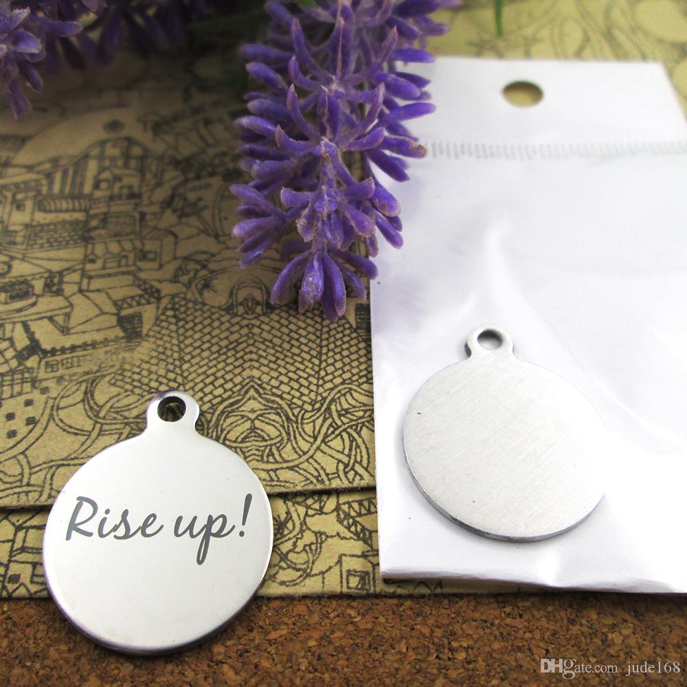 40шт - «Rise Up» амулеты из нержавеющей стали больше стиля для выбора DIY очаровывает подвески для ожерелья