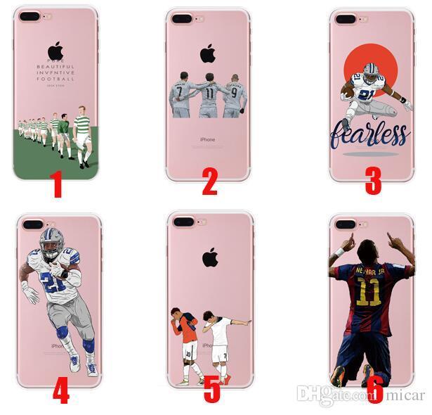Custodie Trasparenti Il Design Di Calcio Alla Moda IPhone 6 6s Iphone 7 Iphone X Cover Trasparente In TPU Trasparente Da Micar, 0,84 € | It.Dhgate.Com