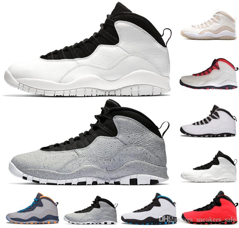 Venta caliente 10 10s Cemento hombres zapatos de baloncesto Chicago Bobcats Steel Cool Grey I'm Back Westbrook entrenadores para hombre zapatos de diseño zapatillas deportivas