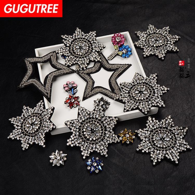 GUGUTREE patch perline con perline, cristalli diamanti Insetti Patch per applique con paillettes per cappotto, t-shirt, cappello, borse, maglione, zaino BDP-29