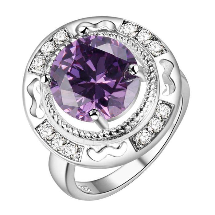 Anillo de dedo de plata caliente con joyería de moda zircon regalo de boda hermoso para mujer buena calidad