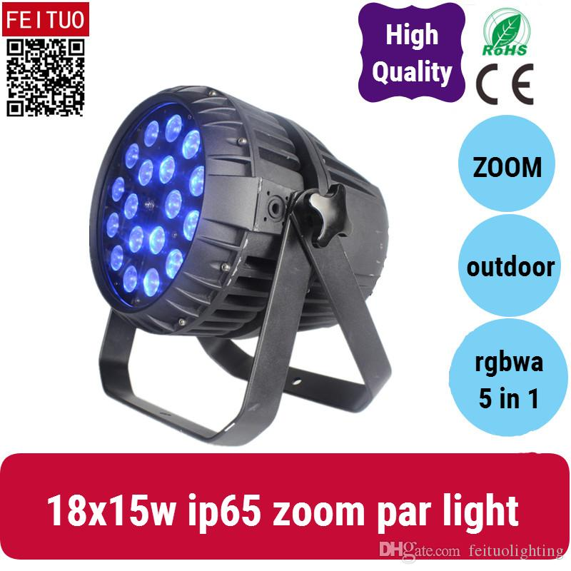 (6pcs / lot) zoom 18 * 15w rgbwa led par peut éclairer, zoomer par led éclairage dj