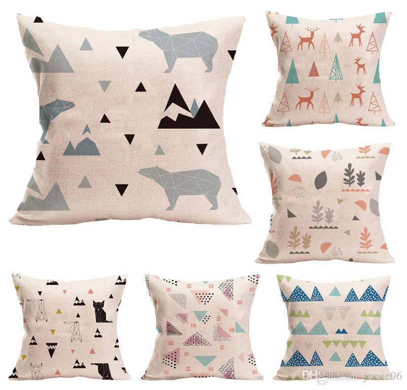 "Home Bed Decor Geometric Pineapple Sofa Throw Cushion Cover Pillow Case 18 x 18/"""
