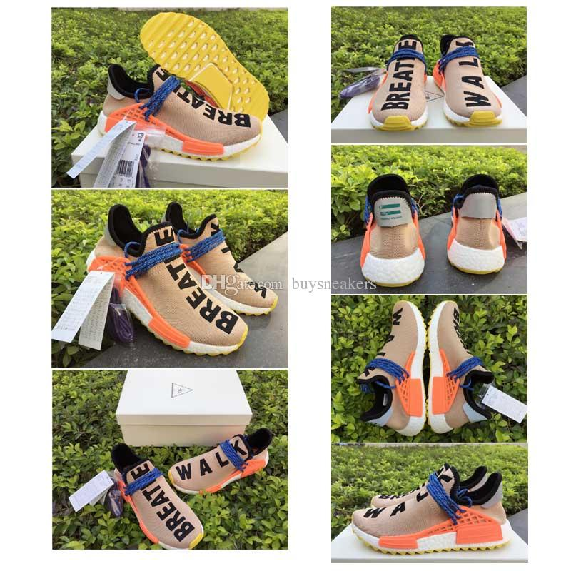 best website fee22 850ba Human Race NMD Real Boost Tan Men Women Running Shoes NMD PW HU Pale Nude  Real Boost BREATHE WALK Outdoor Boost Training Sneakers Size 36 Mens  Running ...