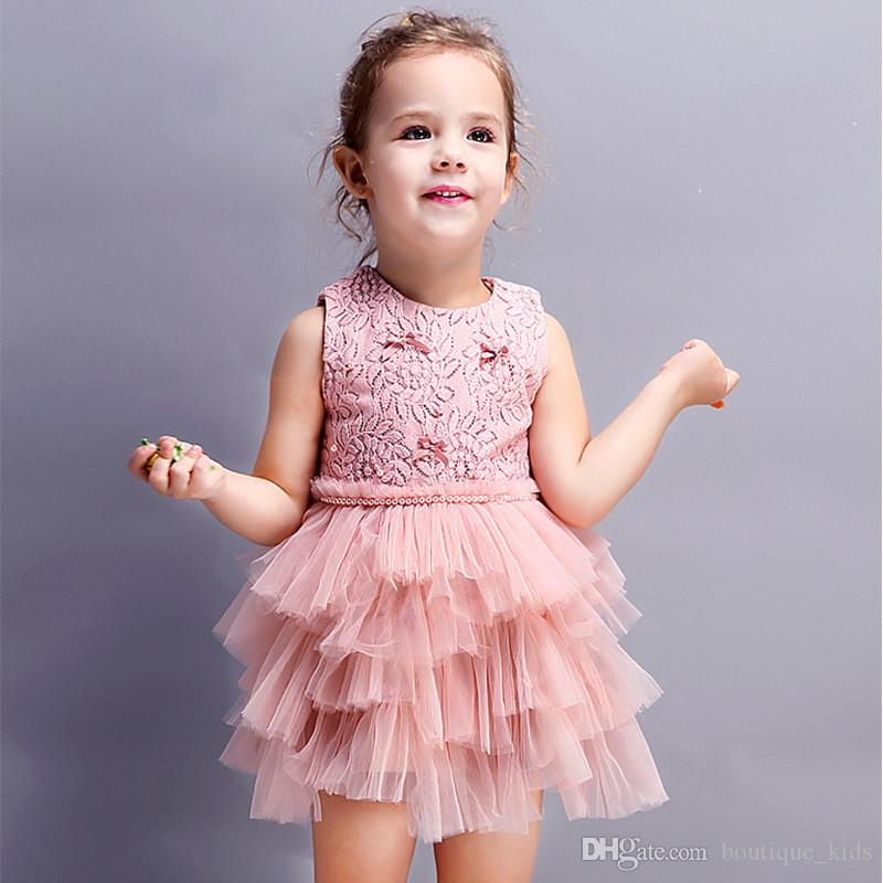 UK Toddler Baby Girl Summer Dress Party Pageant Princess Lace Tutu Dress Clothes