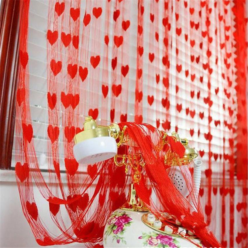 2020 Unique Shower Curtain Cute Heart Line Tassel String Door Curtain Window Room Valance Jul18 From Griffith 15 4 Dhgate Com