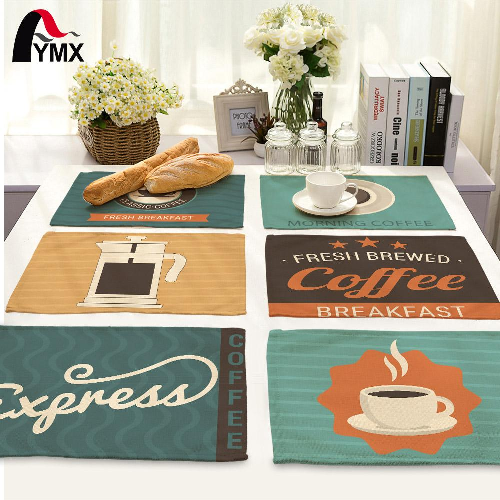 Simple Cartoon Style Table Napkins for Wedding Polyester Table Napkin Cloth Western Dinner Mat Europe Decor Coffee Mat