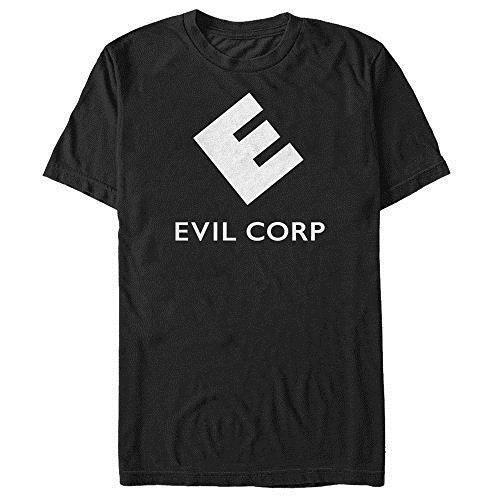 Летние футболки Пятое солнце г-н робот мужская Evil Corp логотип футболка черный с коротким рукавом футболки