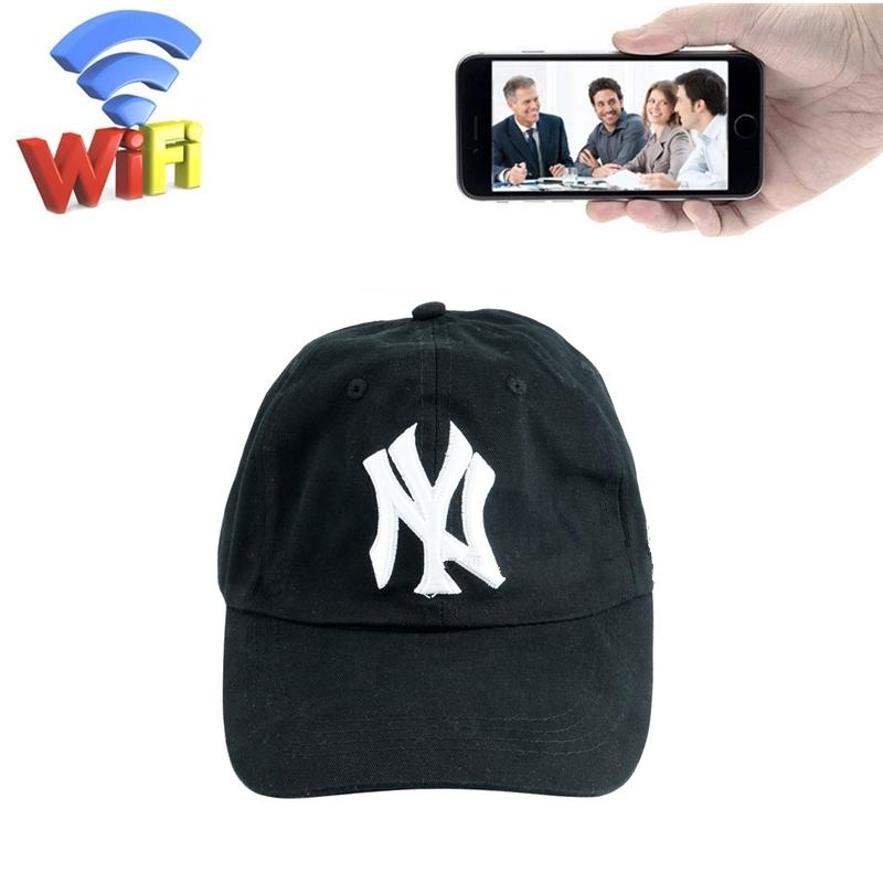 32GB 1080P Wifi Hat Camera HD Baseball Cap Nanny Cam Wireless Camera Portable IP Video Recorder Security Surveillance DVR Mini DVs