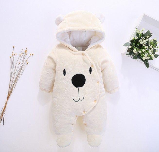 Chaud bébé barboteuses hiver vêtements de bébé pour les nouveau-nés polaire Costume bébé salopette coton rembourré combinaisons enfants garçon fille vêtements