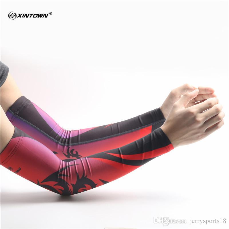 Di personalità degli uomini comodi scaldamuscoli Outdoor Sports Sbarazzamento manicotti del braccio di Manicotti Protezione UV Cuff maniche femminili