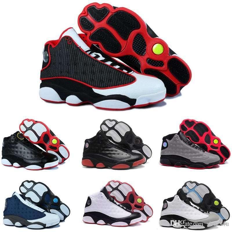 [With Box] Vente en gros en ligne 2016 pas cher nouvelle 13 XIII Hommes chaussures de basketball Chaussures de course pour hommes Baskets de sport entraînement cours de chaussures