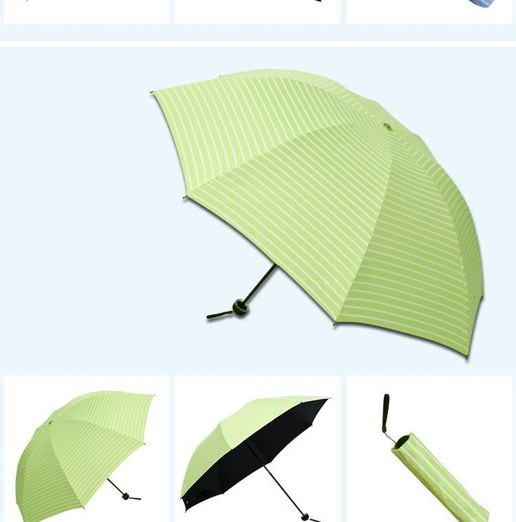 Jarwee Taschenschirm mit Streifenmuster Sonniger und regnerischer Tagesregenschirm Ultraviolettbeständige Sonne