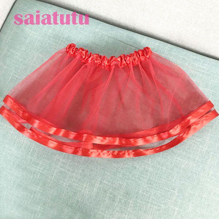 Summer Kids Baby party birthday princess Tulle Pettiskirt Children mini short Tutu girl Skirt Falda Vestido rose red skirts