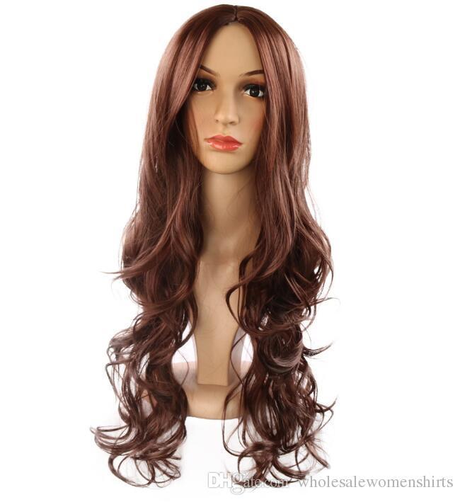 Взрыв модели Европа и Америка парики женщины парик волос многоцветные средние и длинные волосы химия парики кремнезема