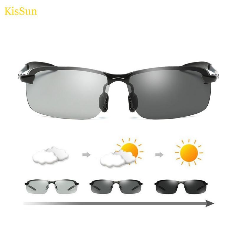 Atacado 2018 Óculos de Proteção Óculos de Polarização para Drivers Fotocromáticos Óculos De Sol Dos Homens UV400 Óculos Polarizadores para Pesca Óculos De Sol