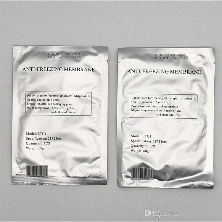 MOQ 50PCS Membrana Anticongelante 28 * 28 CM Membrana Anticongelante Membrana Antifreezing Para Fat Freezing CE / DHL Envío Gratis