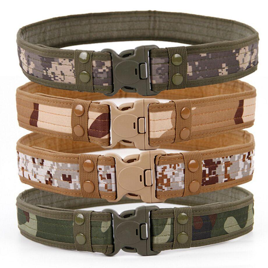Owlwin Active   Tactical Belt Unisex Durable Canvas Material Hunting Outdoor Utility Adjustable Waistband 130cm