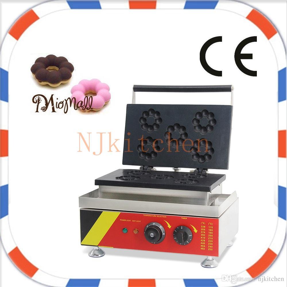 Livraison gratuite En Acier Inoxydable Électrique 110 V 220 V Plat De Cuisson Commercial Donut Faire Machine mini machine à beignet machine