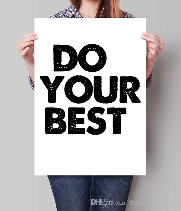 Digital Print Do Your Best Motivational home Decor Inspiring Art Bedroom Kids Wall Decor Awesome Quote Black and White painting