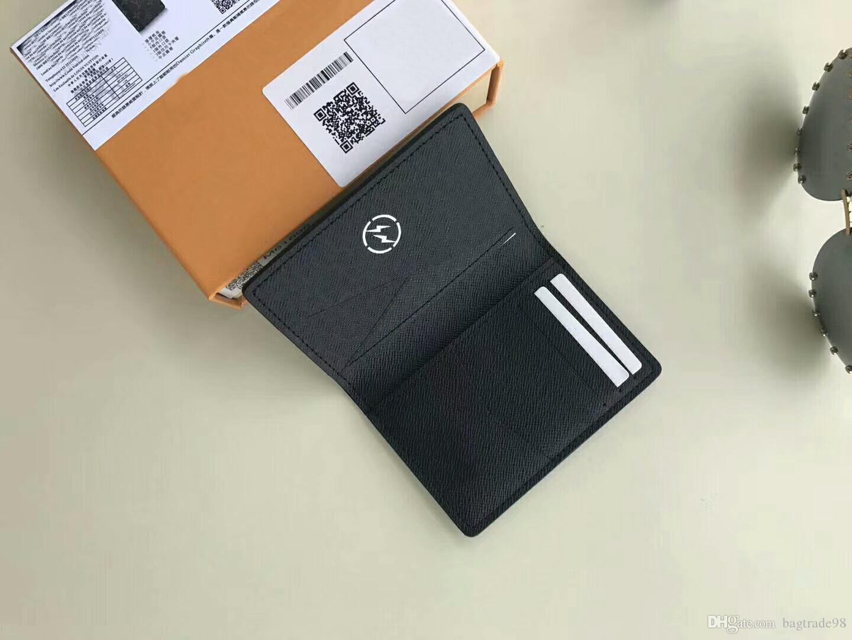 High Wallet Brand CX # 267 copertina Portassina Passaporto Supporto da uomo / Donna Box M61696 con ID Bifold Borse a moneta famosa Borse di monete Qualità AROSA