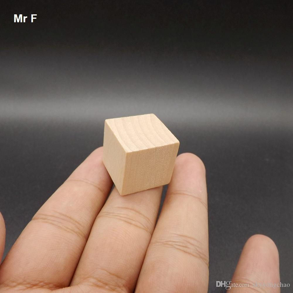 Fun 100 pcs Blocks Wood Cube 2 cm Game Novelty Gadget Early Head Start Training Toys Kids Gifts