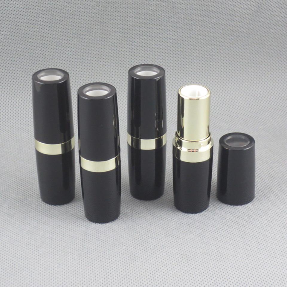 TM-LP4530 botella vacía lápiz labial bricolaje en negro brillante con diseño de tapa transparente vacío labio 500pcs paquete recipiente del palo / lot