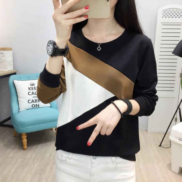 Plus Size Tshirt Women Fashion Long Sleeve T-shirt Women Tops Casual Camiseta femme Patchwork Tshirts Women Poleras Mujer 2019 (3)
