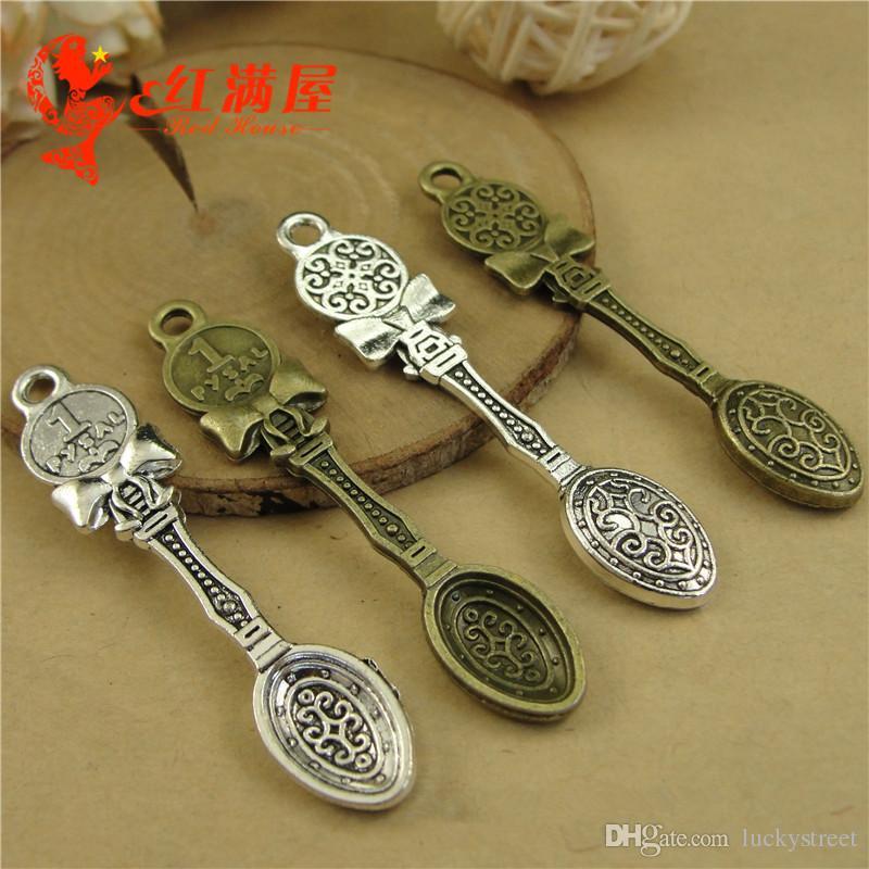 10pc Tibetan Silver Charm Pendant spoon Jewellery Accessories Wholesale P1309