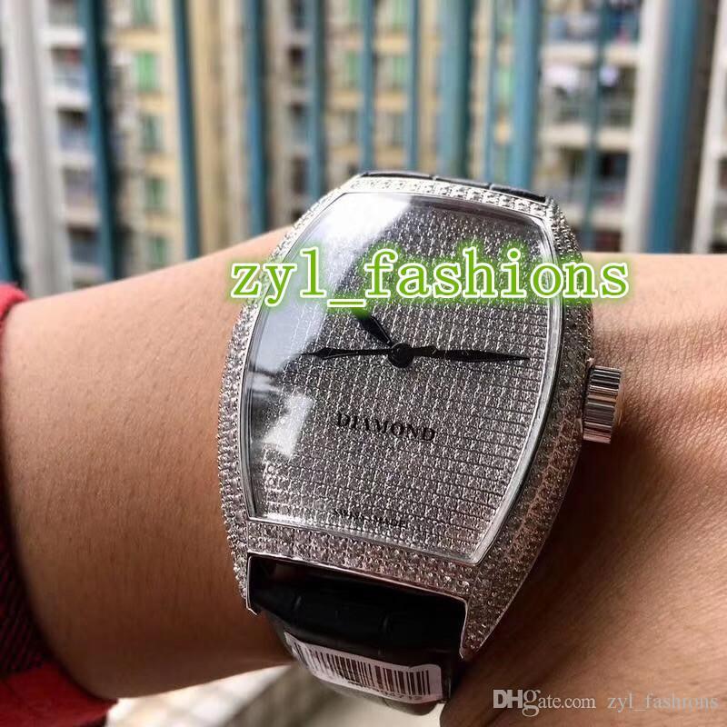 Mejor envío libre de los hombres vendedores de lujo de reloj de diamantes de Trend reloj mecánico automático reloj deportivo del mundo