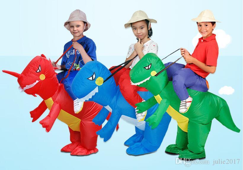 Новое прибытие моделирование мультфильм животных надувная одежда Хэллоуин Рождество карнавал надувные игрушки Хэллоуин подарок синий Маунт
