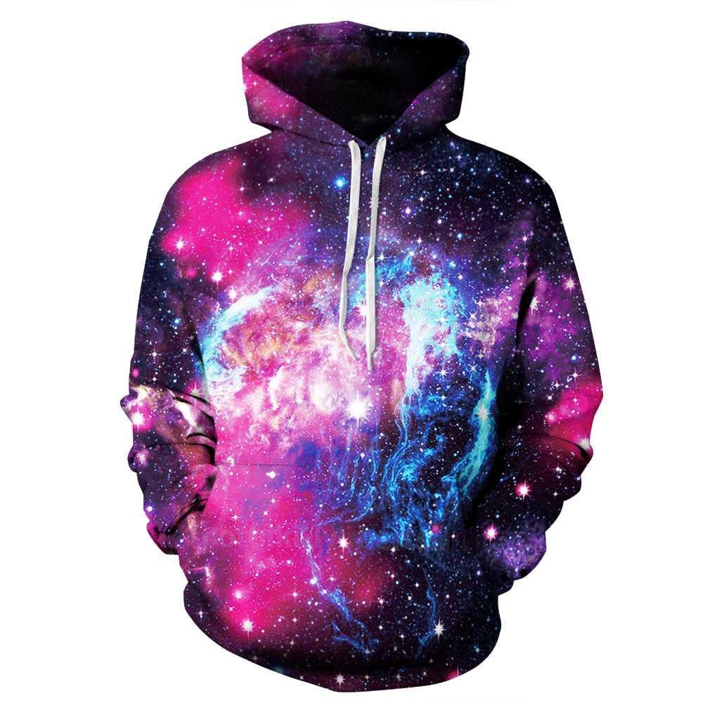 PLstar Cosmos New fashion Hoodies Casual Sweatshirts Galaxy Space 3D Print Hip Hop Hoodies Street Wear Clothing Plus Size S-3XL