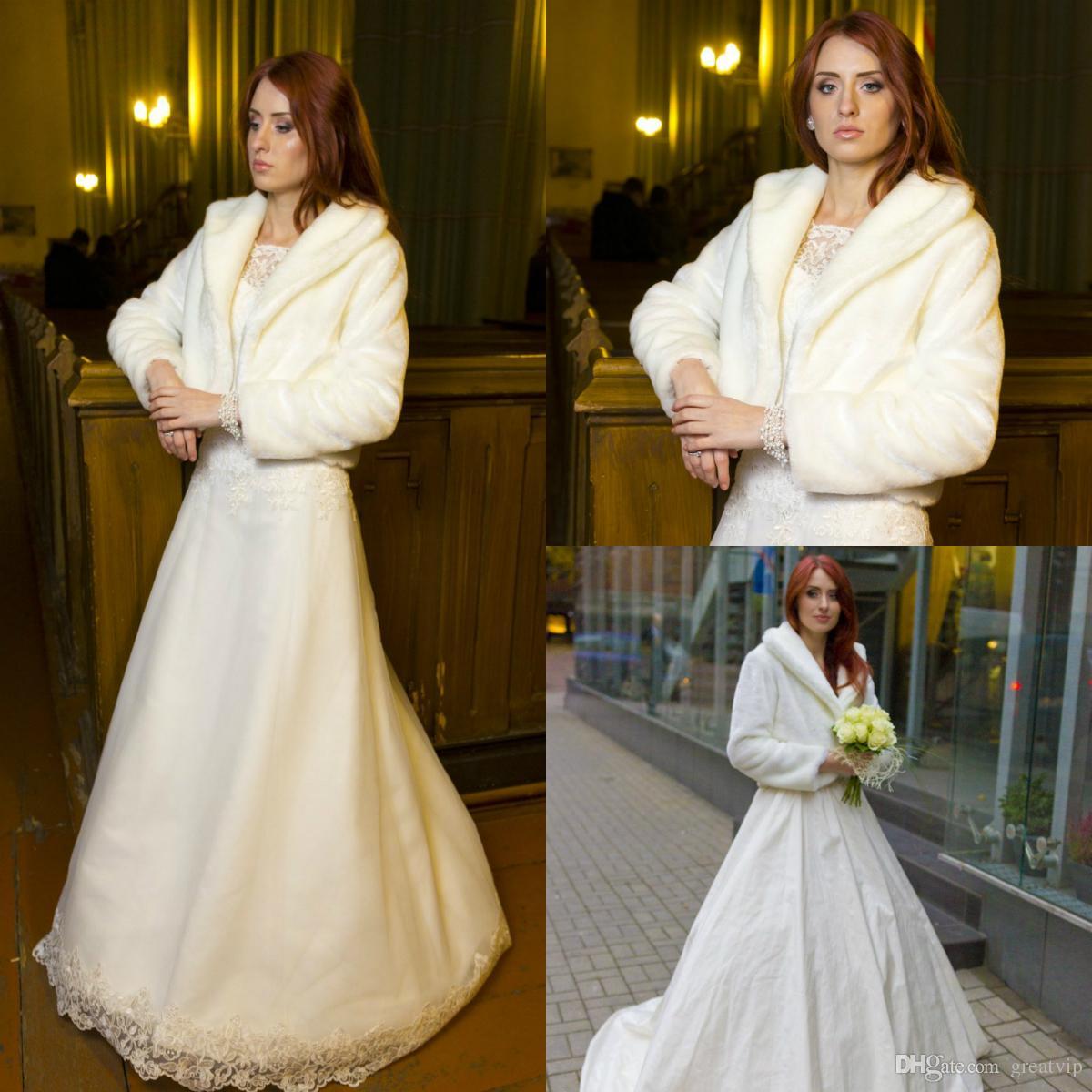 White Winter Warm Knitting Lapel Cloak Faux Fur Cashmere Shawl Pashmina Bridal Wraps Poncho Capes Jackets For Weddings Bolero Shrugs
