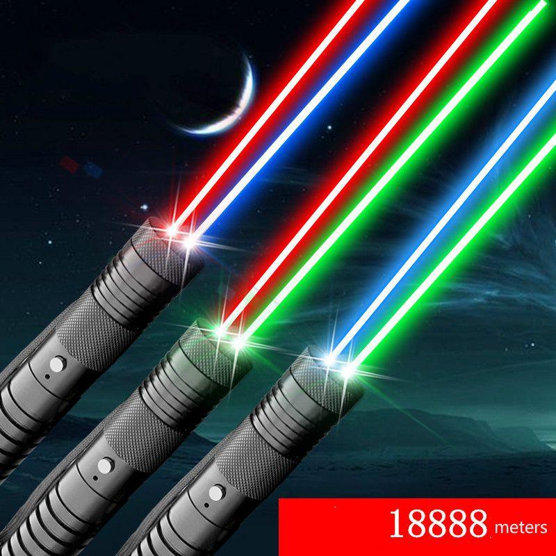 Çok renkli Lazer Yeşil ve Kırmızı Combo Lazer Pointer Fener 5000m Yıldızlı Gösterisi