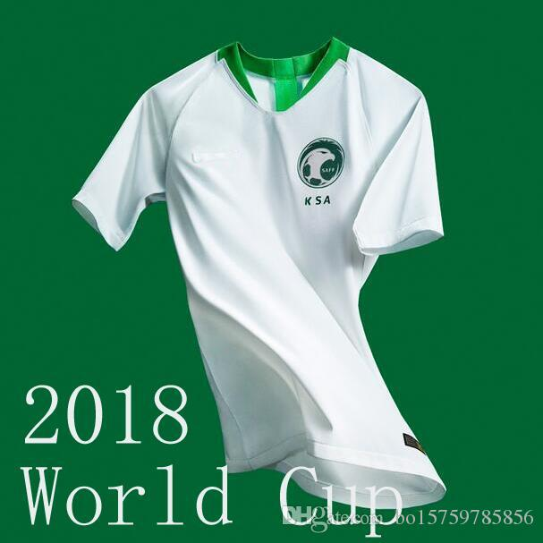 best website 69dca 66fc1 2019 New 2018 Saudi Arabia Jersey World Cup Soccer Jerseys 2018/19 Saudi  National Team Home White Football Jersey Shirts Top AAA Thailand Quality  From ...