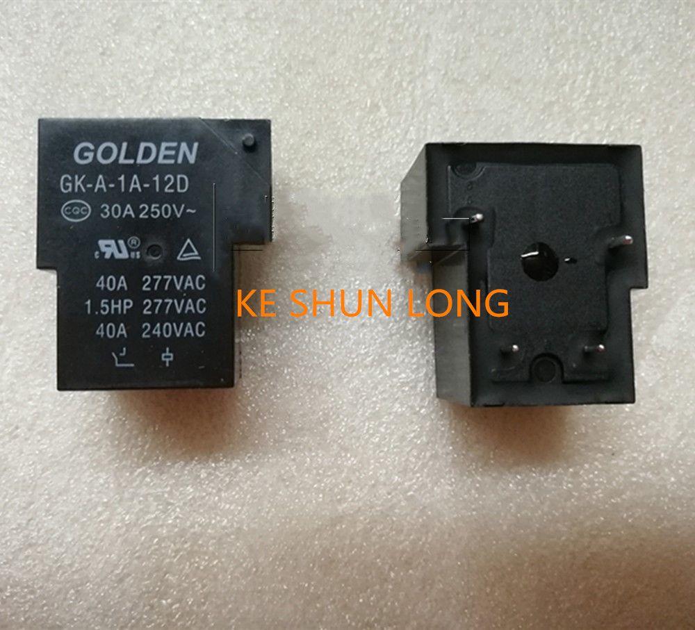 Бесплатная доставка лот (5 шт./лот) 100%оригинальный новый золотой ГК-А-1а-12D 12VDC ГК-А-1а-24D 24VDC DIP-4 30A реле питания