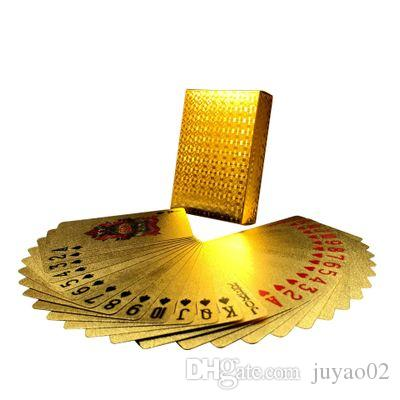 Poker Card Gold foil plated Playing Cards Plastic Poker Waterproof High Quality Local Gold Waterproof PET/PVC General style Wholesale
