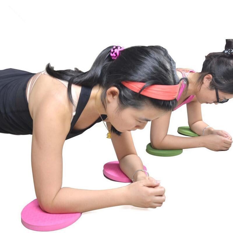 2 pz / lotto Plank Workout Ginocchio Pad Cuscino Rotondo Schiuma Yoga Elimina Ginocchio Polso Gomito Dolore Esercizio Stuoie Spedizione Gratuita