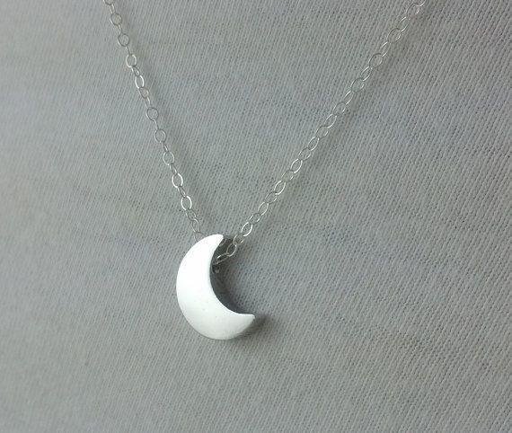 الذهب / الفضة لذيذ الهلال القمر قلادة الحد الأدنى نصف القمر قلادة سلسلة قلادة مجوهرات الإكسسوار هدية