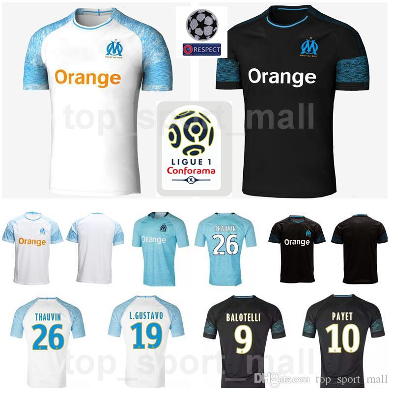 2021 2018 2019 Fc Marseille Jersey Soccer Ligue 1 Maillot De Foot Om 26 Thauvin 19 Gustavo 10 Payet 28 Germain Football Shirt Kits From Best Sale Store 13 55 Dhgate Com
