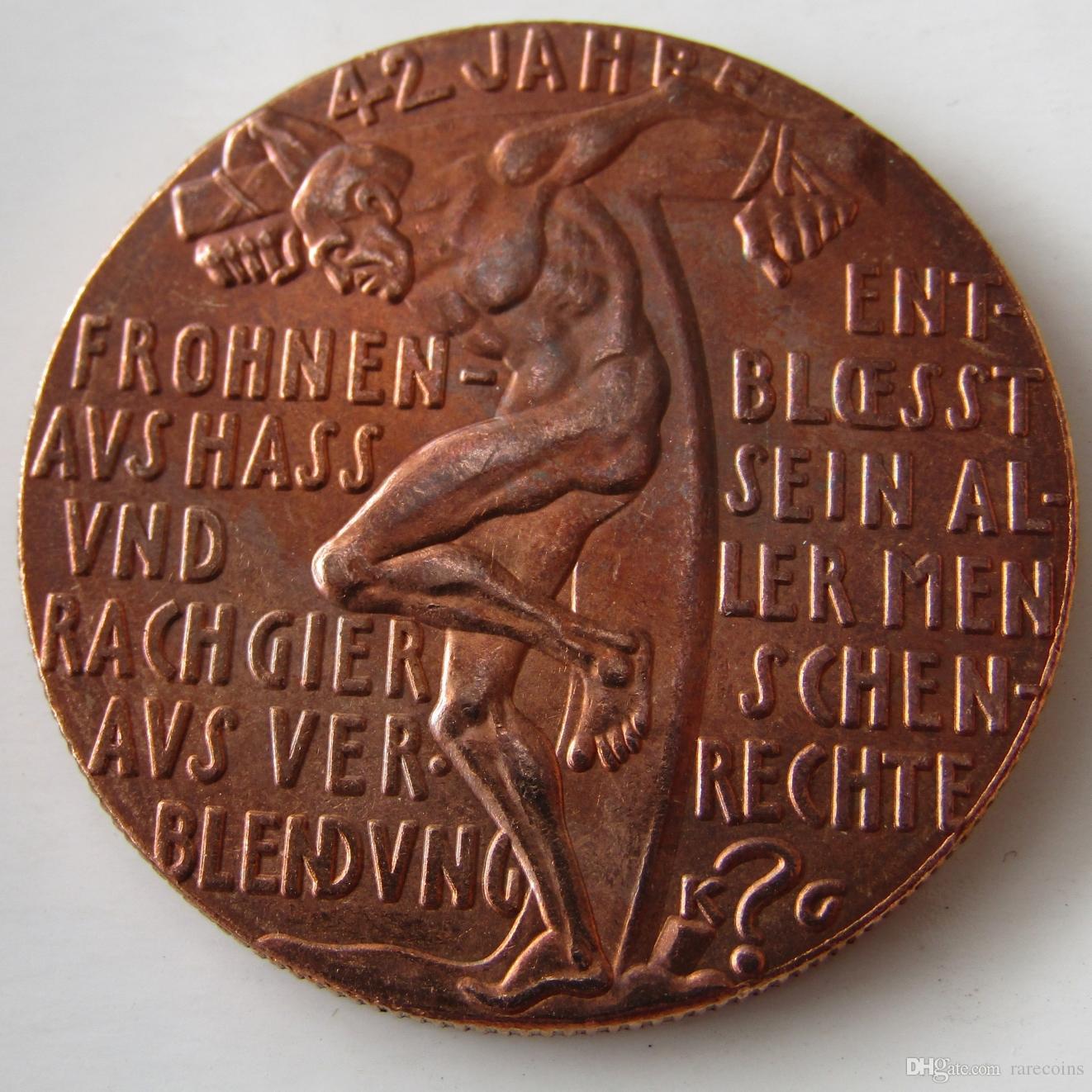 ALEMANIA 1927, The Paris Dictat 100% Copper Copie Coins