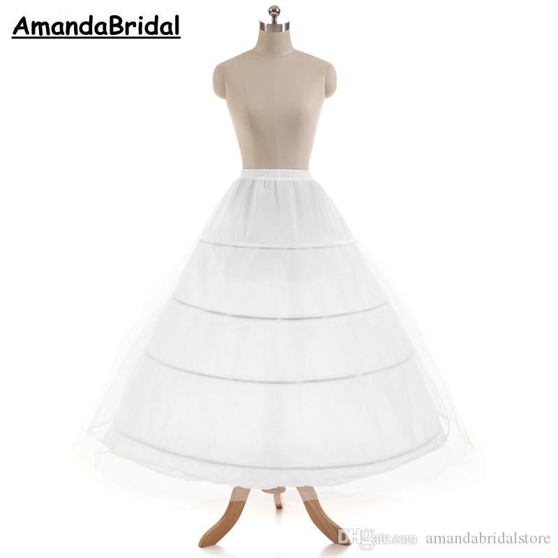 شحن مجاني رخيصة تول marrige 4 الأطواق التنورة النسائية قماش قطني تحتية زلة الكرة ثوب الزفاف ثوب نسائي