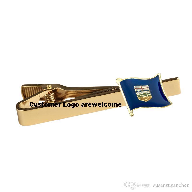 ALBERTA National Flag Tie Clip