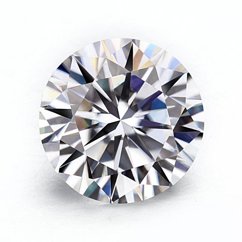 Moissanites sciolto pietra gh colore 6.5mm rotondo 8 hearts8 frecce taglio 0.9-1.0 ct Moissanites pietre preziose sinteti diamanti pietra S923